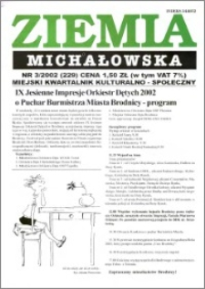 Ziemia Michałowska : Gazeta Brodnicka R. 2002, Nr 3 (229)