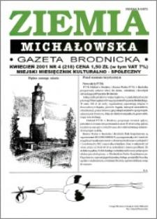 Ziemia Michałowska : Gazeta Brodnicka R. 2001, Nr 4 (218)