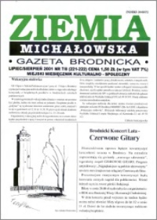 Ziemia Michałowska : Gazeta Brodnicka R. 2001, Nr 7/8 (221/222)
