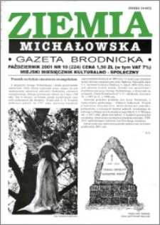 Ziemia Michałowska : Gazeta Brodnicka R. 2001, Nr 10 (224)