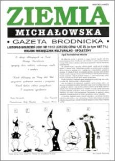 Ziemia Michałowska : Gazeta Brodnicka R. 2001, Nr 11/12 (225/226)