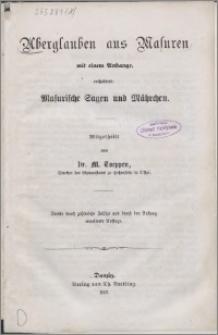 Aberglauben aus Masuren : mit einem Anhange, enthaltend: Masurische Sagen und Mährchen