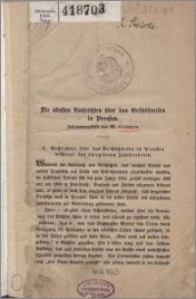 Die ältesten Nachrichten über das Geschützwesen in Preußen