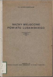 Nazwy miejscowe powiatu lubawskiego
