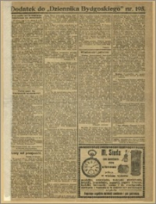 Dziennik Bydgoski, 1919, R.12, nr 195 Dodatek