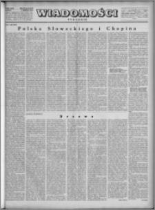Wiadomości, R. 4, nr 32 (175), 1949