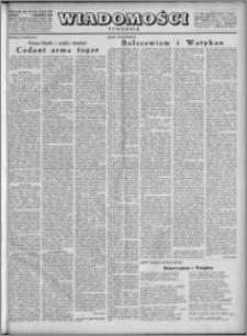 Wiadomości, R. 4, nr 35/36 (178/179), 1949