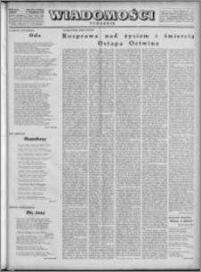 Wiadomości, R. 4, nr 39 (182), 1949