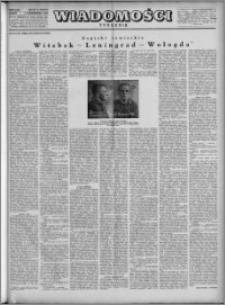 Wiadomości, R. 4, nr 40 (183), 1949