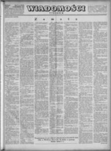 Wiadomości, R. 4, nr 41 (184), 1949