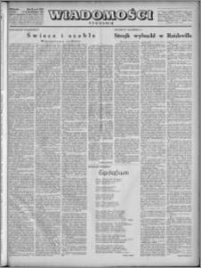 Wiadomości, R. 4, nr 42 (185), 1949