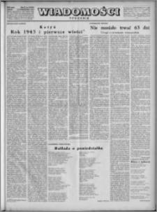 Wiadomości, R. 4, nr 43 (186), 1949