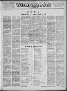 Wiadomości, R. 4, nr 44 (187), 1949