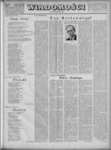 Wiadomości, R. 4, nr 47 (190), 1949