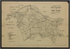 Regierungsbezirk Bromberg : amtliche Entfernungskarte des Kreises Schwetz