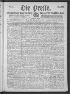 Die Presse 1909, Jg. 27, Nr. 10 Zweites Blatt