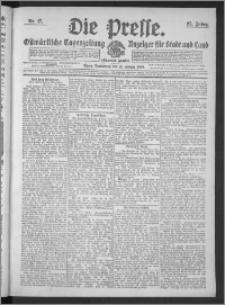 Die Presse 1909, Jg. 27, Nr. 17 Zweites Blatt