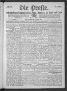 Die Presse 1909, Jg. 27, Nr. 21 Zweites Blatt, Drittes Blatt