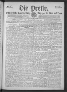 Die Presse 1909, Jg. 27, Nr. 33 Zweites Blatt, Drittes Blatt