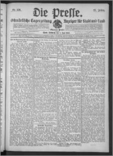 Die Presse 1909, Jg. 27, Nr. 126 Zweites Blatt, Drittes Blatt