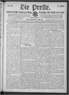Die Presse 1909, Jg. 27, Nr. 132 Zweites Blatt
