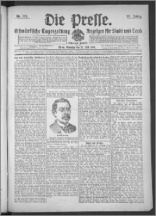 Die Presse 1909, Jg. 27, Nr. 173 Zweites Blatt, Drittes Blatt