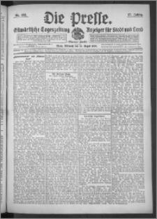 Die Presse 1909, Jg. 27, Nr. 198 Zweites Blatt, Drittes Blatt