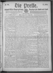 Die Presse 1909, Jg. 27, Nr. 202 Zweites Blatt, Drittes Blatt