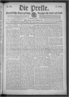Die Presse 1909, Jg. 27, Nr. 212 Zweites Blatt, Drittes Blatt
