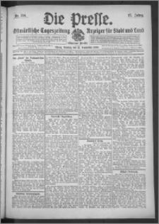 Die Presse 1909, Jg. 27, Nr. 214 Zweites Blatt, Drittes Blatt, Viertes Blatt