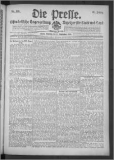 Die Presse 1909, Jg. 27, Nr. 215 Zweites Blatt, Drittes Blatt
