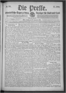 Die Presse 1909, Jg. 27, Nr. 220 Zweites Blatt, Drittes Blatt, Viertes Blatt