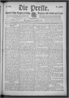 Die Presse 1909, Jg. 27, Nr. 224 Zweites Blatt, Drittes Blatt