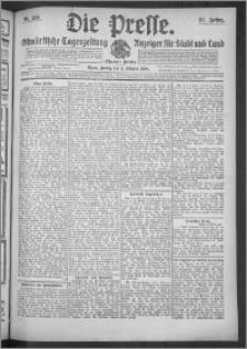 Die Presse 1909, Jg. 27, Nr. 236 Zweites Blatt, Drittes Blatt