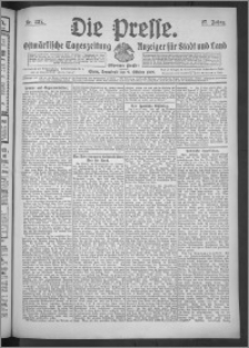 Die Presse 1909, Jg. 27, Nr. 237 Zweites Blatt, Drittes Blatt