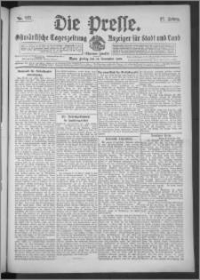 Die Presse 1909, Jg. 27, Nr. 277 Zweites Blatt, Drittes Blatt
