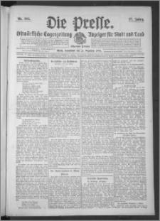 Die Presse 1909, Jg. 27, Nr. 302 Zweites Blatt, Drittes Blatt, Viertes Blatt