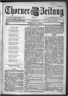 Thorner Zeitung 1899, Nr. 1 Erstes Blatt