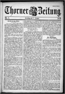 Thorner Zeitung 1899, Nr. 1 Zweites Blatt