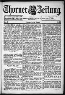 Thorner Zeitung 1899, Nr. 2