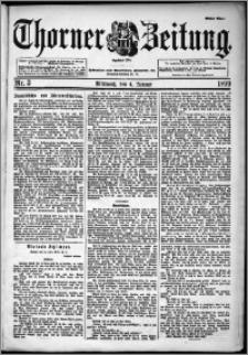 Thorner Zeitung 1899, Nr. 3 Erstes Blatt