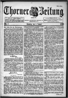 Thorner Zeitung 1899, Nr. 7 Erstes Blatt