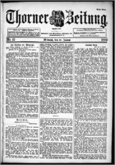 Thorner Zeitung 1899, Nr. 15 Erstes Blatt