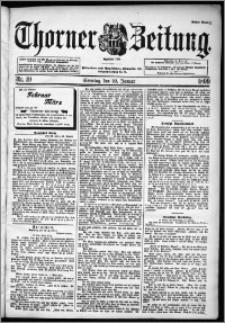 Thorner Zeitung 1899, Nr. 19 Erstes Blatt