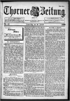 Thorner Zeitung 1899, Nr. 22 Erstes Blatt