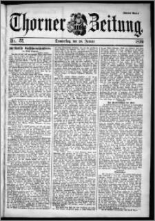 Thorner Zeitung 1899, Nr. 22 Zweites Blatt