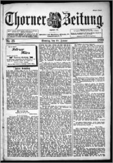 Thorner Zeitung 1899, Nr. 25 Erstes Blatt