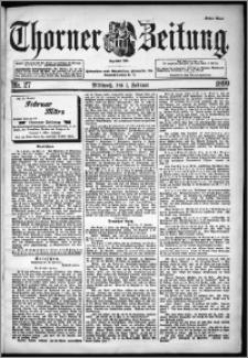 Thorner Zeitung 1899, Nr. 27 Erstes Blatt