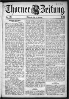 Thorner Zeitung 1899, Nr. 27 Zweites Blatt