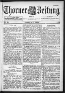 Thorner Zeitung 1899, Nr. 31 Erstes Blatt